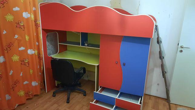 mobila  camera copii cu birou detasabil