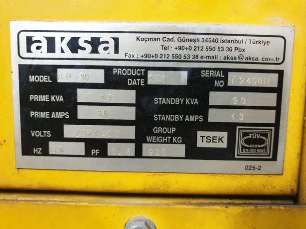 Продам генератор aksa ap 30.