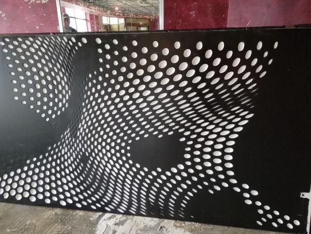 Panou decorativ MDF/Placaj -model 3D -dimensiuni (120x280/230 cm)