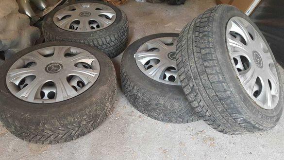 НАМАЛЕНИ! Железни джанти за Мерцедес с гуми, тасове и болтове