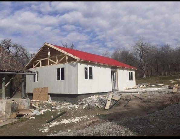 Casa locuibile pe structura metalica si panouri sandwich