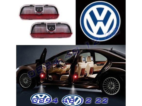 LED ЛЕД Светещо Лого Проектор Врата Автомобил Кола Проектори VW Golf