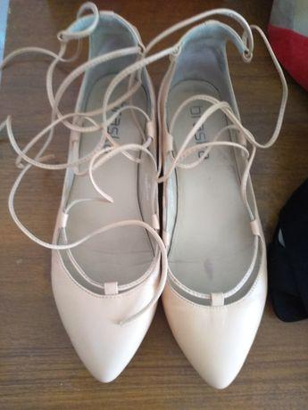 Бершка балетки размер 38 кожа