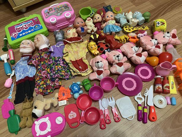Пакет игрушек, кукольный театр, посуда, игрушки для ванны