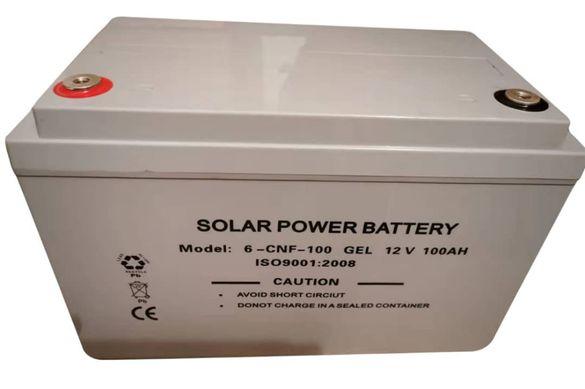 НОВ 100ач Тягов Гелов AGM акумулатор за соларна система висок клас