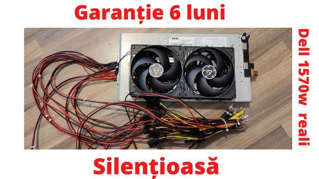 Sursa de mining SILENTIOASA Dell 1570w, cu 24 mufe PCI garantie