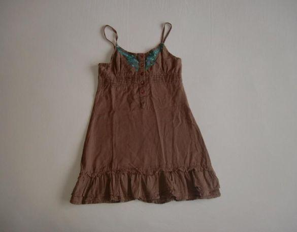 Чудесна ленена рокля за момиче,116/122 см.