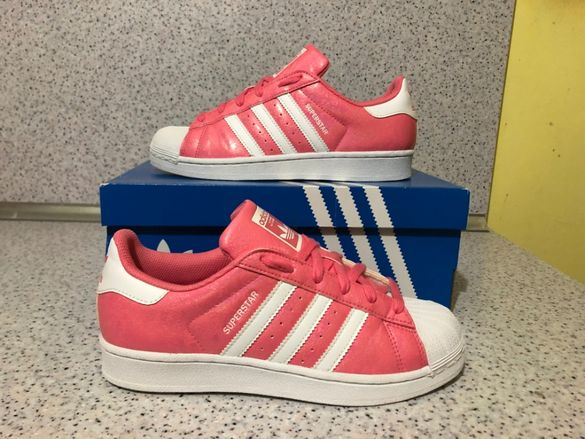 ОРИГИНАЛНИ *** Adidas Superstar J White Pink Еmbossed