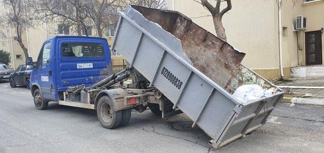 Transport moloz si resturi constructii bena detasabila , balastru