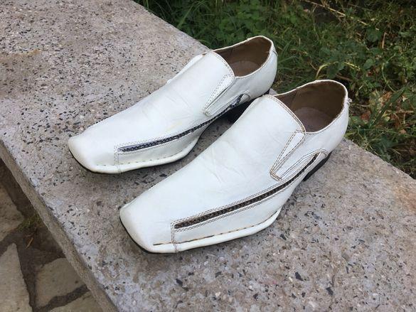Нови мъжки обувки от естествена кожа Red superman
