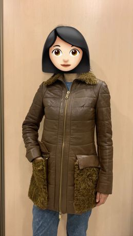 Женская зимняя куртка. Натуральная кожа