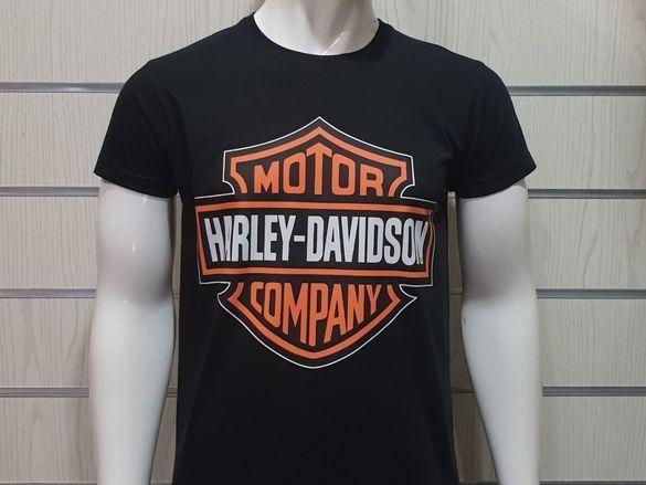 Нова мъжка тениска с щампа motor harley davidson, мотори