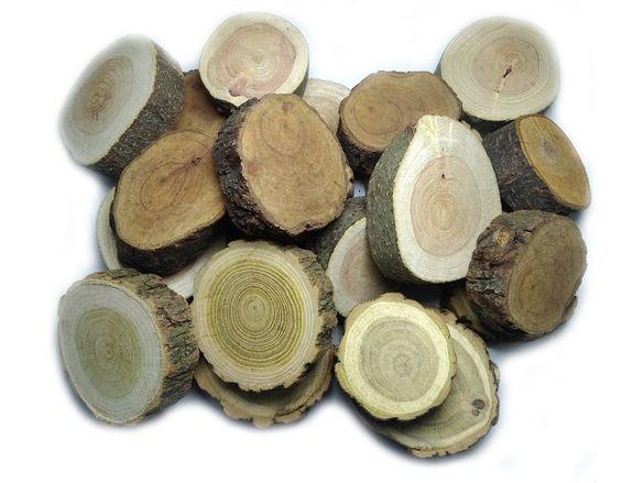 Дървени шайби за декор и аранжиране - натур