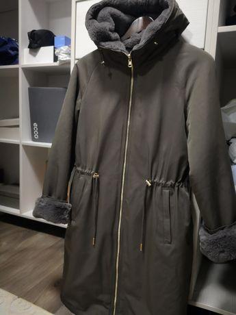 Куртка парка шубка 2 в 1. Двухсторонняя брендовая
