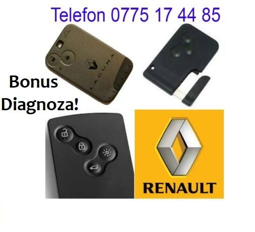 Cartela,card,cheie Renault,Megane,Espace,Laguna,Scenic,Vel Satis,NOU
