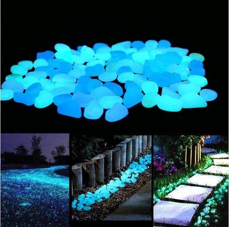 Градински декоративни светещи камъни за двор градина басейн аквариум 5