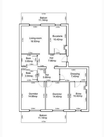 Apartament Sanpetru - 96mp utili