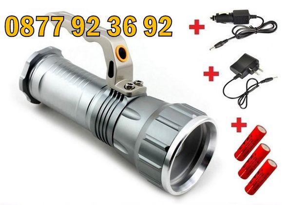 LED МОЩЕН ПРОЖЕКТОР, фенер, модел: ZP-306