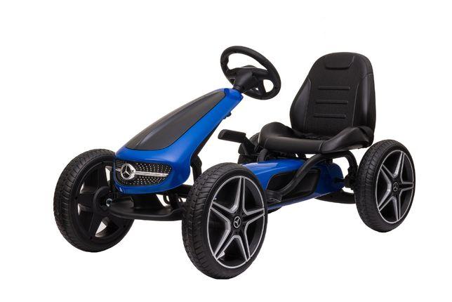 Masinuta GO Kart cu pedale pentru copii de la Mercedes #Albastru