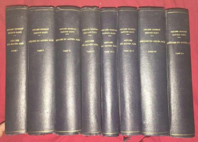 Histoire du Moyen Age / H. Pirenne, et. al. vol. 1-2, 4a, 7-9a legate