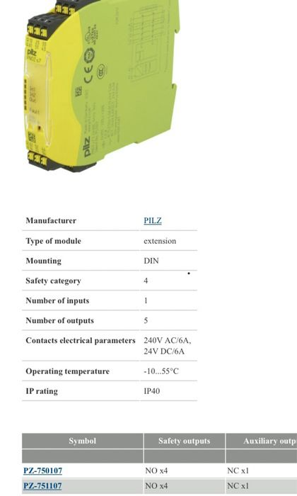 Modul control PILZ Sanandrei - imagine 1