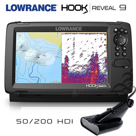 Сонар с GPS Lowrance HOOK Reveal 9 със сонда 50/200 HDI