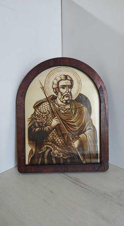 Гравирана икона на свети Мина