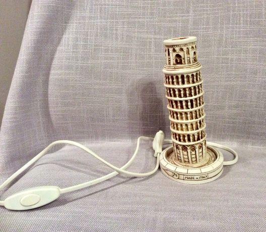 лампа - кулата в Пиза - настолна, нощна - сувенир