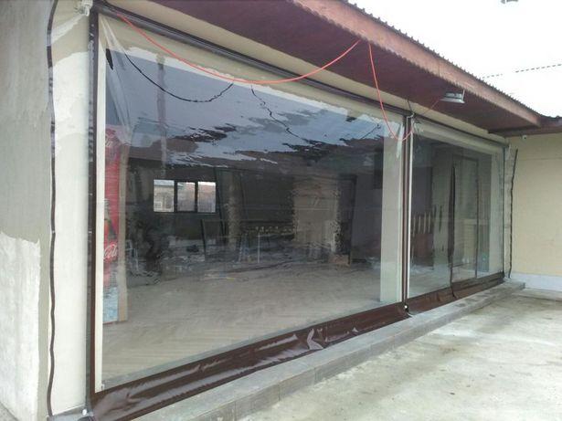 Folie transparenta pentru terase