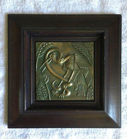 Метална картина, склуптора от бронз. Арт подарък, колекция
