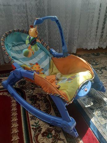 Детский шезлонг кресло-качалка вибро