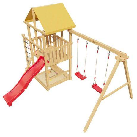 Детская игровая площадка 5-й Элемент с горкой и качелями (DIY мастер)