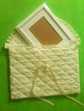 Бебешки копринен плик за фотоси, снимки и други документи с рамка