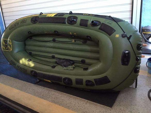 Надуваема лодка sevylor 360 с мотор и акумолатор