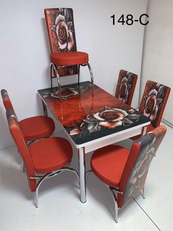 Комплект маса + 6 стола Нови супер цени!!!