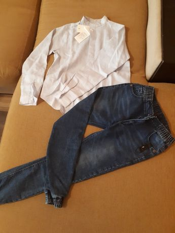 Детски дънки и риза