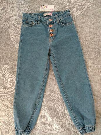 Новые джинсы для девочек 5-6лет