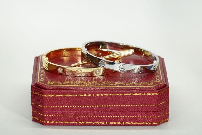 Bratara Cartier Love Placata Aur 18K, Dama si Barbarti, Calitate ++