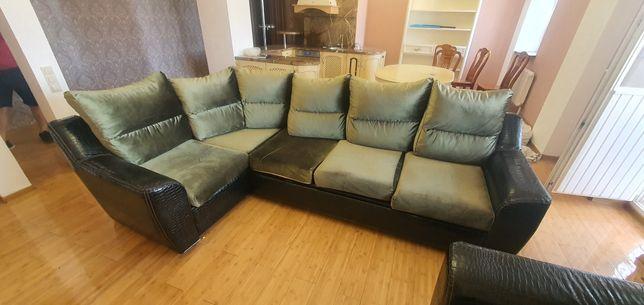 Мягкая мебель диван + кресло угловой