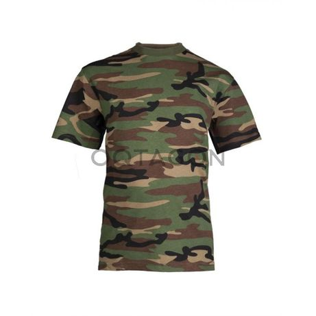 Tricouri militare cu camuflaj pentru copii Mil-Tec Urban/Woodland
