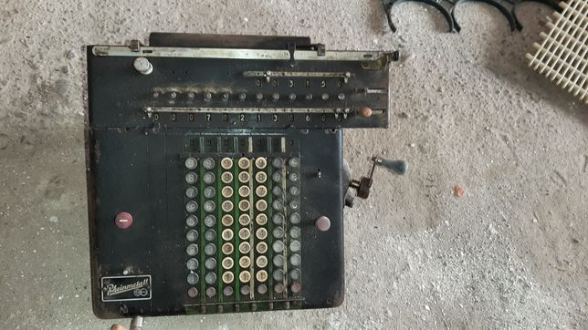 Mașina de calculat manuala mecanica vintage Rheinmetall