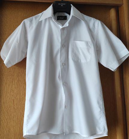 Продам белую рубашку с коротким рукавом на мальчика 11-12 лет, Herdal