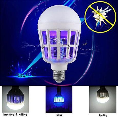 Енергоспестяваща LED крушка против комари .