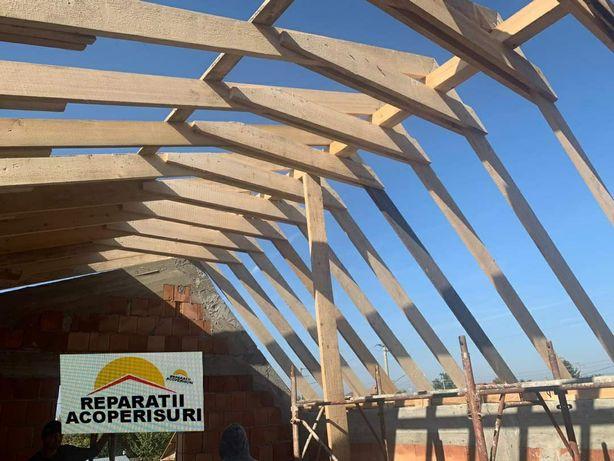 Dulgherie acoperis tigla metalica renovări acoperis izolari polistiren