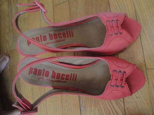 Розови дамски обувки на ток