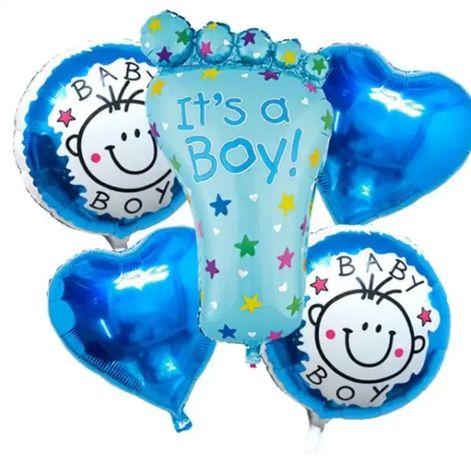 Set baloane nou-nascut baietel