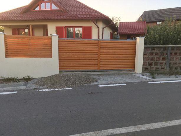 Gard lemn tip jaluzea