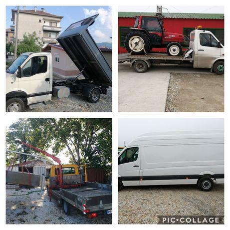 Транспортни услуги с Пътна Помощ и Самосвал + кран