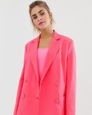 Розовый пиджак женский Bershka