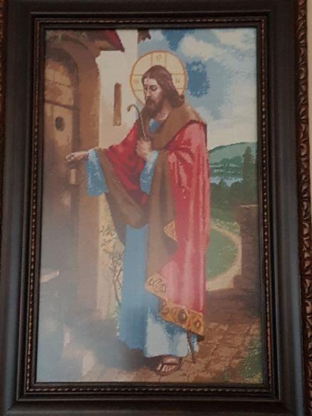 Гоблен Иисус чука на вратата